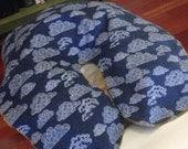Handmade Massage Table Face Cradle Covers - Indigo Dream- Organic Cotton Flannel