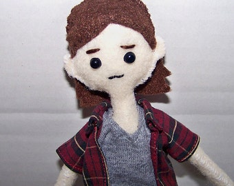 Supernatural Sam Winchester felt doll, fabric doll, cloth doll, hand-made doll, hand-sewn doll, hunter, character doll
