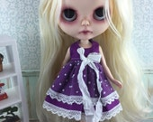 Blythe Dress - Purple Spot
