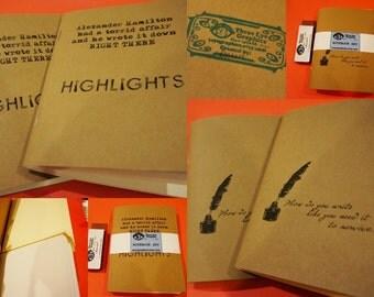 Hamilton Themed Notebooks/Sketchbooks