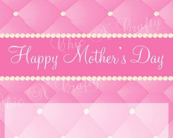 DIY Printable Happy Mother's Day Personalized Candy Bar Wrapper Candy Favor