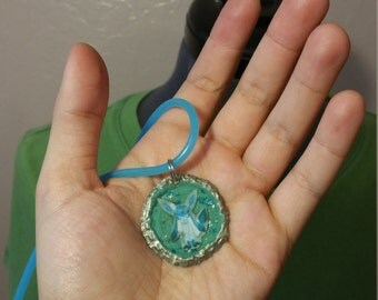 Glaceon Bottlecap Pendant Necklace