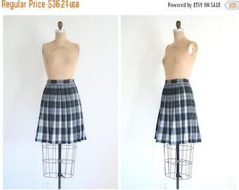 20% SALE ladies plaid tartan wool skirt - pleated plaid mini skirt - 80s preppy / school girl skirt - schoolgirl / cosplay - Lolita