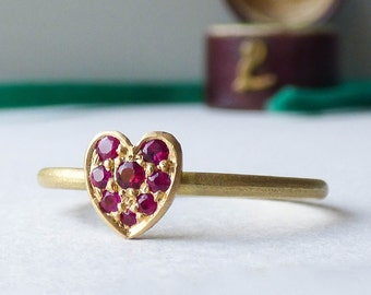 Cherish Fairtrade 18ct Gold Ethical Ring with Rubies