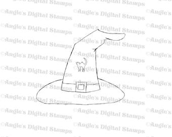 Witch Hat Digital Stamp Image