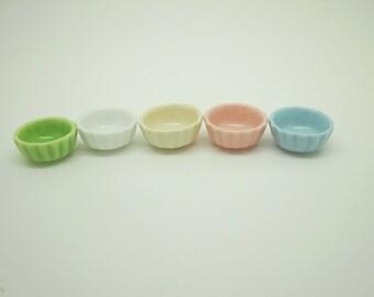 Miniature dollhouse ceramic large bowl in 1:12 scale
