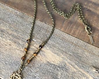 Tigers Eye, Third Chakra Necklace