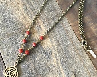 Red Jasper, First Chakra Necklace