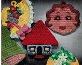 Lily Vintage Crochet book Pot Holders and Oven Mitts