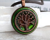 green tree of life necklace, celtic jewelry, tree necklace, elven jewelry, unique gift, nature necklace, forest jewelry, wiccan necklace