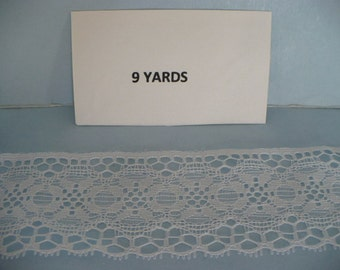 9 Yards Of 2 IN White Polyester Lace