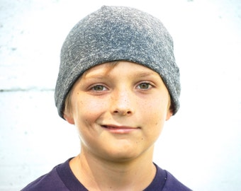 Youth Beanie Hat - Unisex - Storm Gray - Organic Cotton Hemp - Eco Friendly - Organic Clothing