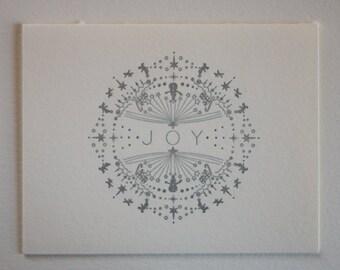 Letter Press Holiday Card - JOY