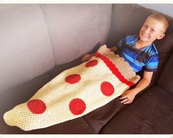 Pepperoni Pizza Slice Sack Blanket Afghan Kids or Adult Sizes