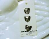 Novelty Buttons, Bear Buttons, Metal Craft Buttons