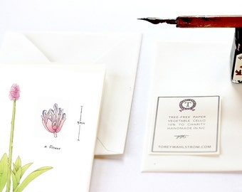 Botanical Note Cards, Rare Wildflower Species Collection, Swamp Pink