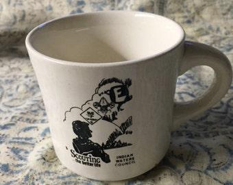 Vintage Boy Scout Mug Toddler Decor Office Decor