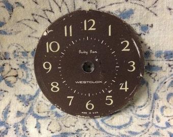 Vintage Baby Ben Westclox Clock Face Repurpose