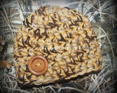 Chunky baby hat - duck camo - photo prop - duck hunting photo prop - baby shower gift - made to order
