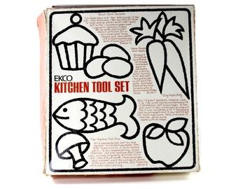 Ekco Kitchen Tool Set. Vintage New in a Box EKCO Utencil Set