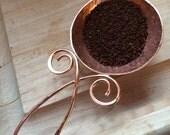 coffee scoop, copper spoon