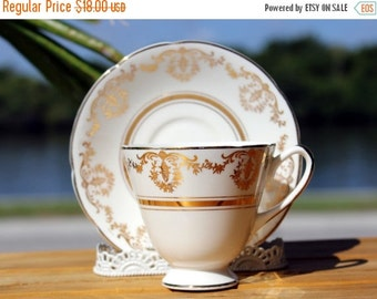 Vintage Teacup, Bone China, Crownford China, Cup and Saucer, Cup and Saucer Set, English Tea 13140