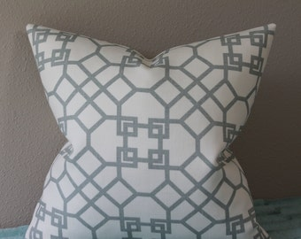 BOTH SIDES Or FRONT Only - Windsor Smith for Kravet - Pelagos in Mist - Lumbar Sizes and Square Sizes - Decorative Designer Pillow Cover