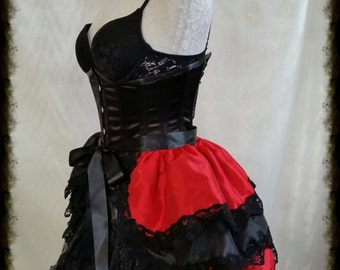 HARLEY QUINN Cosplay  Bustle Burlesque   Taffeta Goth Lolita By Gothic Burlesque