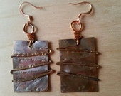 NEW LISTING - Hand Forged Copper Earrings