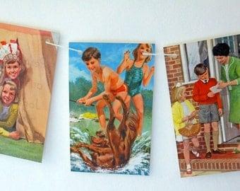 Nursery decor, Playroom bunting, Children's garland, Ladybird Book Bunting, Kid's Bunting, Party Decor, playroom decor