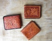 Vintage Collection of Tooled Leather Wallets Bill Folds