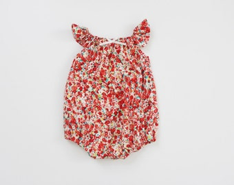 Spring Ditsy Floral Bubble Romper RTS
