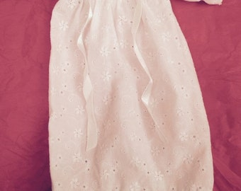White Eyelet Doll Dress or Night Gown