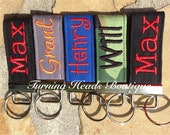 Monogrammed Mini Zipper Pull / Personalized Backpack tag / Lunch box tag / Book bag tag