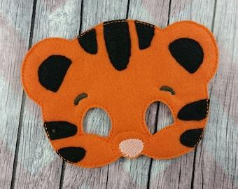 Orange Tiger Felt Children's mask, Daniel inspired