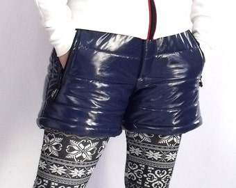 Montessa shiny vinyl puffy short pants