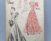 1940s Wedding Dress - Vogue Special Design Pattern - Wartime Bride  - Original - Bust 34