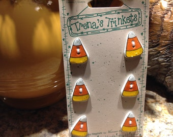 Vintage Buttons, Candy Corn Buttons, Trena's Trinket Buttons