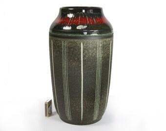 Scheurich Vase Mid Century 517 Pop Art Design W. Germany Pottery Ceramic WGP 1960s