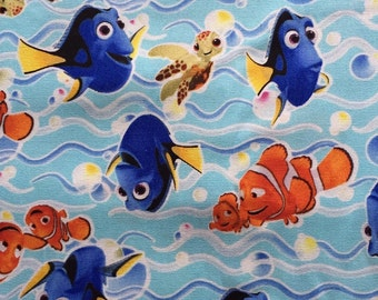 SALE Finding Dory light blue colour base fabric Half yard limited sale
