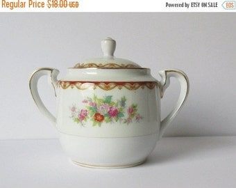 on sale Diamond China Sugar Bowl Vintage Sugar Bowl