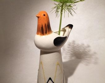 Vintage Ceramic Bird Vase
