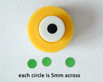 Punch Bunch mini 5mm circle craft punch, useful for dolls' house miniatures