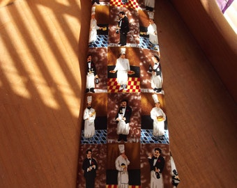 vintage Necktie for men shows Restaurant Chefs - Cooks tie - Cooking tie
