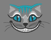 Awesome Cheshire cat embroidery designs - only head - machine embroidery design 4x4 and 5x7 for Wonderland teaparty projects