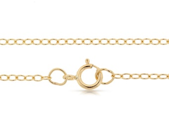 Finished Chains with spring ring clasp 14Kt Gold Filled 2x1.6mm 22 Inch Cable Chain - 5pcs Bulk Quantity (2796)/5