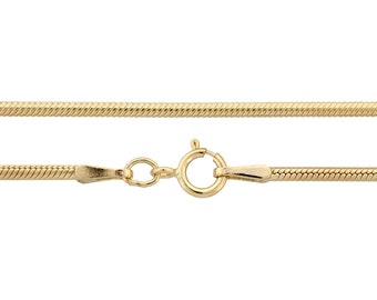 14Kt Gold Filled 1.5mm 16Inch Snake Chain - 1pc 30% Discounted (3016)/1
