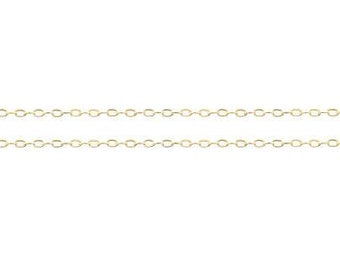 14kt Gold Filled 1.5x1mm Flat Drawn Cable Chain - 20ft (5361-20)  20% Discounted