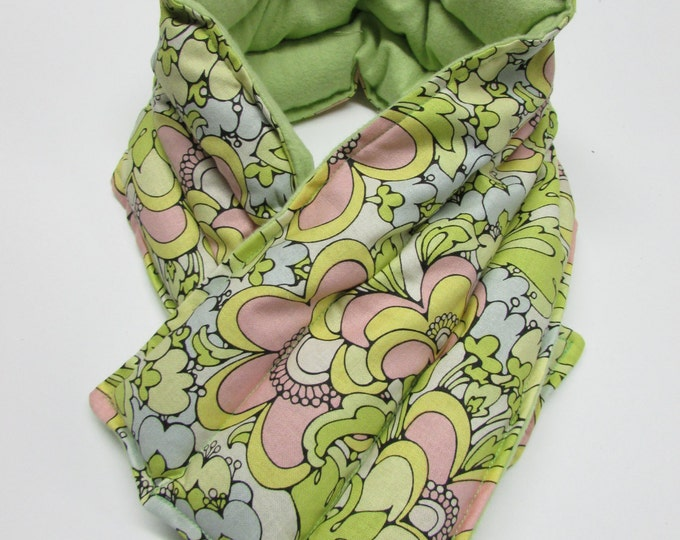 Featured listing image: LONG Hot/Cold Therapy Neck Wrap Pastel Groovy Flowers