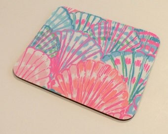 Lilly Pulitzer Fabric Mouse Pad Multi Oh Shell O